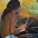 Drummer of Demode band. by Valentina Walker