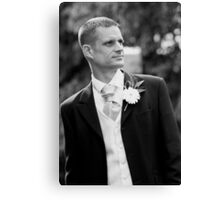 Portrait of the Groom Canvas Print