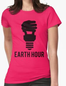 Earth Hour Dim The Lights Lightbulb Womens Fitted T-Shirt