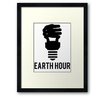 Earth Hour Dim The Lights Lightbulb Framed Print