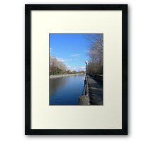 Ottawa Canalscape Framed Print