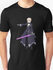 fate zero stay night dark saber star wars lightsaber paraody anime manga shirt T-Shirt