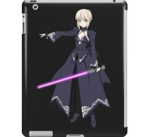 fate zero stay night dark saber star wars lightsaber paraody anime manga shirt iPad Case/Skin