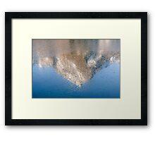 Frozen Peak Framed Print