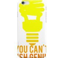 You Can't Rush Genius Lightbulb iPhone Case/Skin