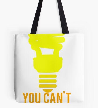 You Can't Rush Genius Lightbulb Tote Bag