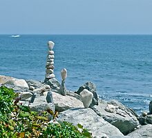 Rock Sculptures - Narragansett - Ocean Road - Rhode Island *featured by Jack McCabe