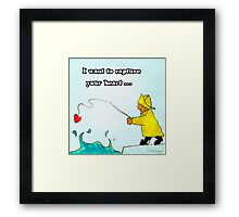 I want to capture your heart Framed Print