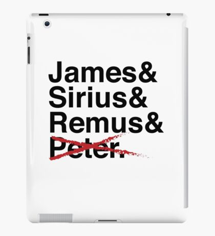 James & Sirius & Remus & X. iPad Case/Skin
