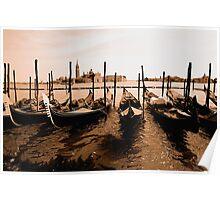 Gondolas on the Canale Di San Marco, Venice Poster