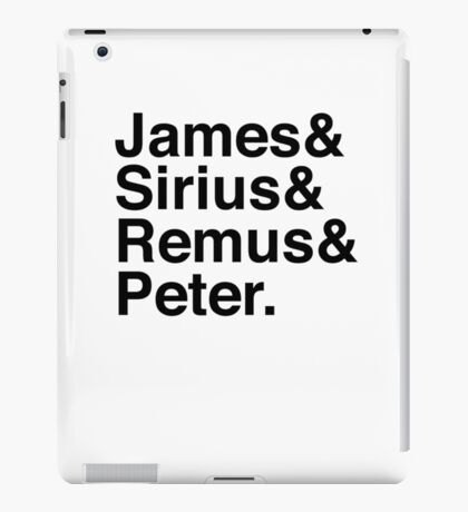 James & Sirius & Remus & Peter. iPad Case/Skin