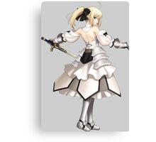 fate zero stay night saber excalibur anime manga shirt Canvas Print