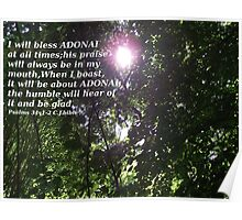 Psalms 34 In the rays of the Son Poster