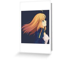 fate zero stay night saber anime manga shirt Greeting Card