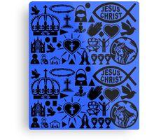 CHRISTIANITY (BLUE) Metal Print