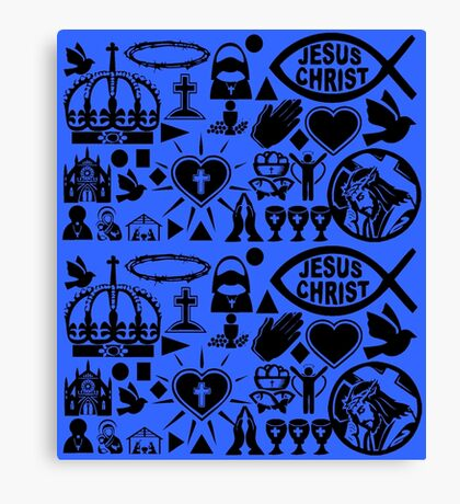CHRISTIANITY (BLUE) Canvas Print