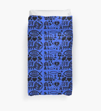 CHRISTIANITY (BLUE) Duvet Cover