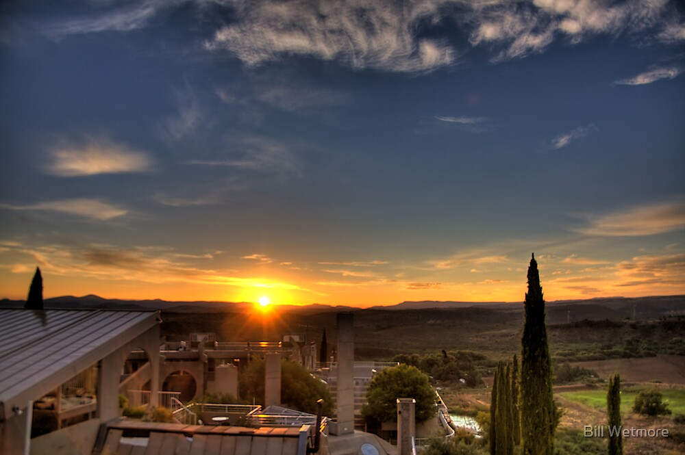 Arcosanti Sunrise by Bill Wetmore
