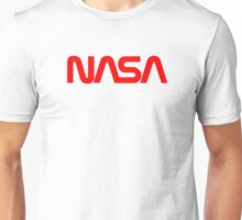 NASA Text [red] Unisex T-Shirt
