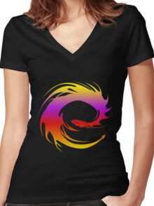 Colorful dragon - Eragon Women's Fitted V-Neck T-Shirt