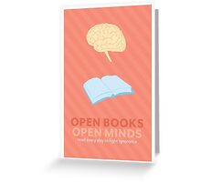 Open Books, Open Minds Greeting Card