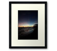 Before our eyes the sky exploded with a multitude of colours Framed Print