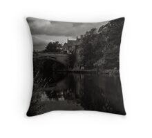 A trading place to commerce and faith Throw Pillow