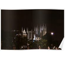 Westminster Abbey at night Poster