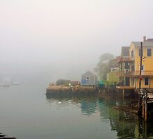House, Fog, Stonington, Maine by fauselr