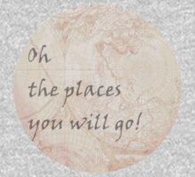 Pink World Map Inspirational Quote, back to school Kids Clothes