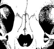 Kitty Cat Skull Sticker
