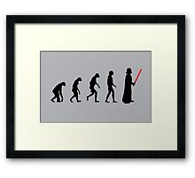 Evolution of the dark side Framed Print