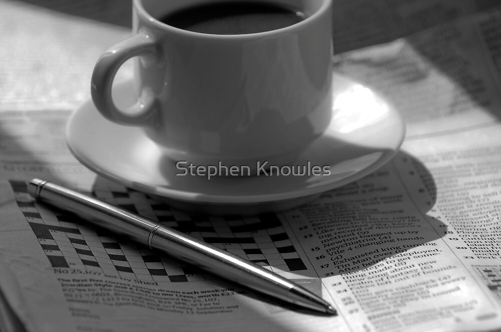 Doing the crossword by Stephen Knowles