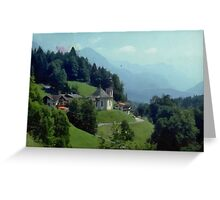 Mountain side road Greeting Card