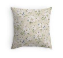Soft Floral Throw Pillow