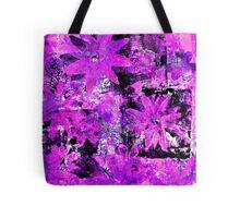 Flower in Black Square 9 - Digitally Altered Print  Tote Bag