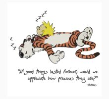 Calvin and Hobbes sleep soundly Kids Clothes