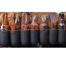 Rusty screwdriver bits Photographic Print