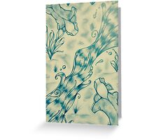 Dogs on the River Lethe Greeting Card