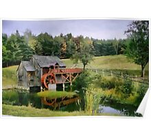 Old water mill Poster