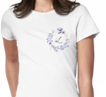 Flowers and the Letter L Womens Fitted T-Shirt
