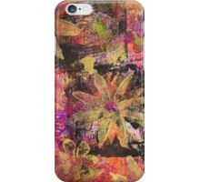 Flower in Black Square (Original Print Colours) by Heather Holland  iPhone Case/Skin