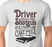 Driver Picks The Music, Shotgun Shuts His Cake Hole Unisex T-Shirt