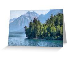 Quite lake Greeting Card