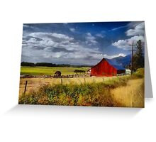 Red country barn Greeting Card