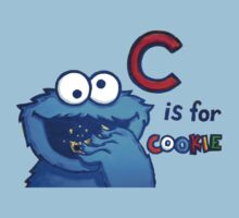 C is for Cookie Monster One Piece - Short Sleeve