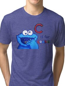 C is for Cookie Monster Tri-blend T-Shirt
