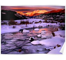 Snow and Ice blanket Poster