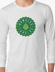 Humulus Lupulus Bottle Cap Graphic Tee Long Sleeve T-Shirt