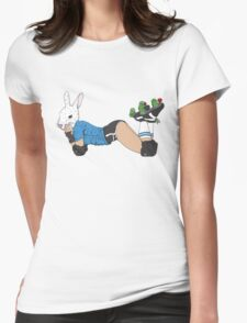 Roller Derby Bunny Womens Fitted T-Shirt